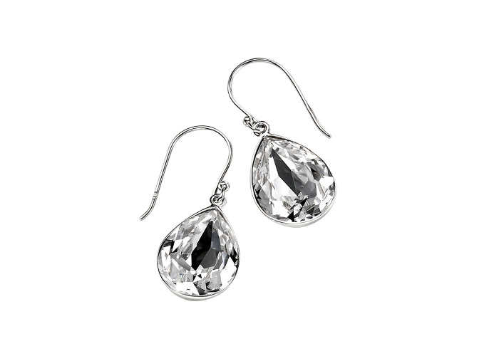Persona Clear Swarovski Crystal Teardrop Earrings - 1