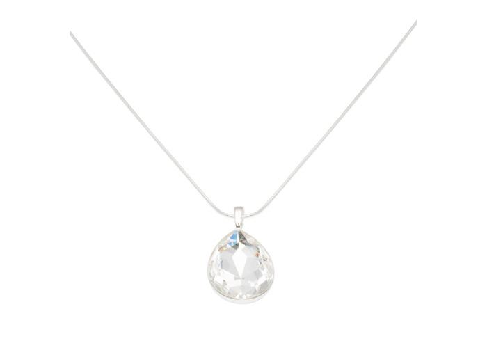 Persona Clear Swarovski Crystal Teardrop Necklace - 1