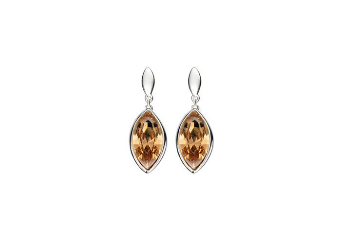 Persona Golden Shadow Swarovski Crystal Drop Earrings - 1