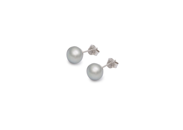 Persona Grey Freshwater Pearl Earrings - 1