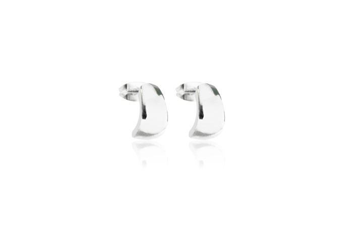 Persona Silver Huggy Stud Earrings - 1