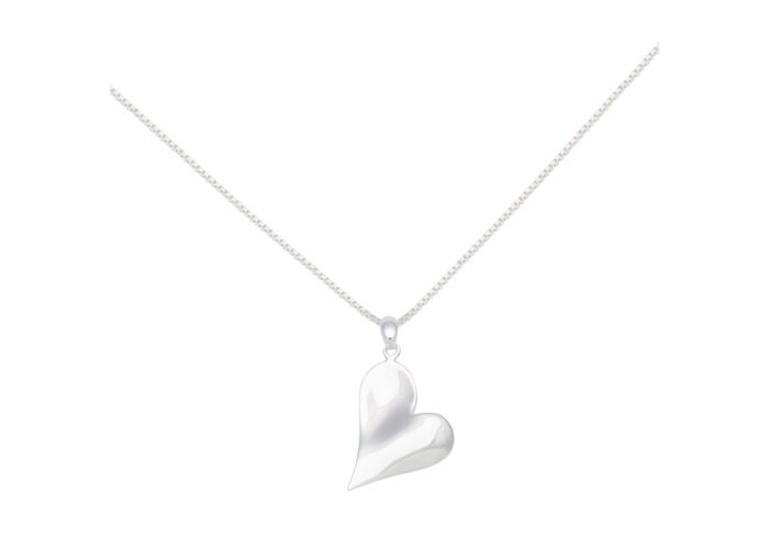 Persona Silver Polished Heart Necklace - 1
