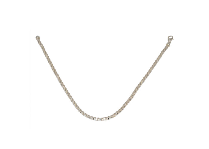 Persona Solid Silver Diamond Cut Necklace - 1