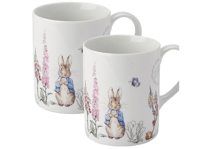 Peter Rabbit Contemporary Design Set of 2 Mugs - 1