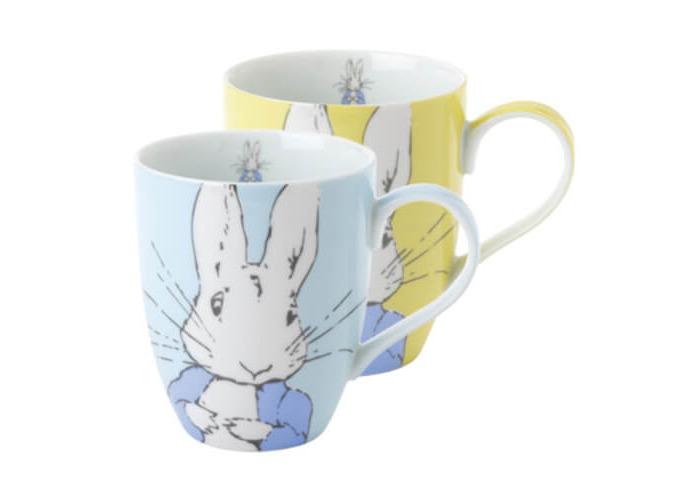 Peter Rabbit Contemporary Mug Set of 2 Blue & Yellow - 1