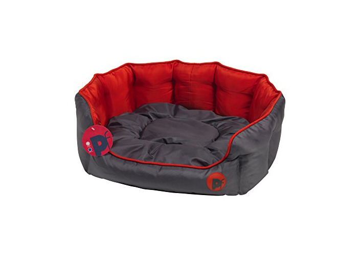 Petface Oxford Oval Dog Bed, Large, Red - 1