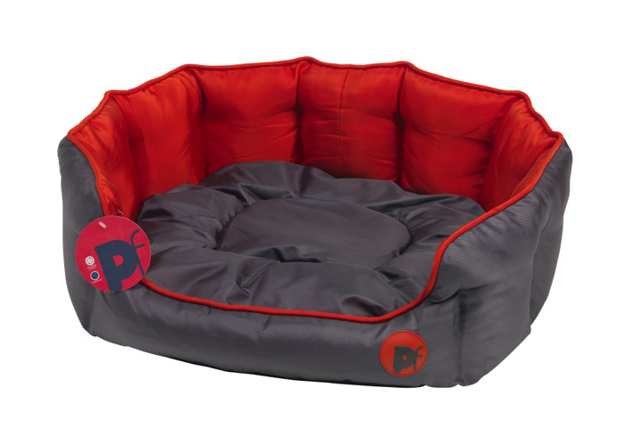Petface Oxford Oval Dog Bed, Large, Red - 2