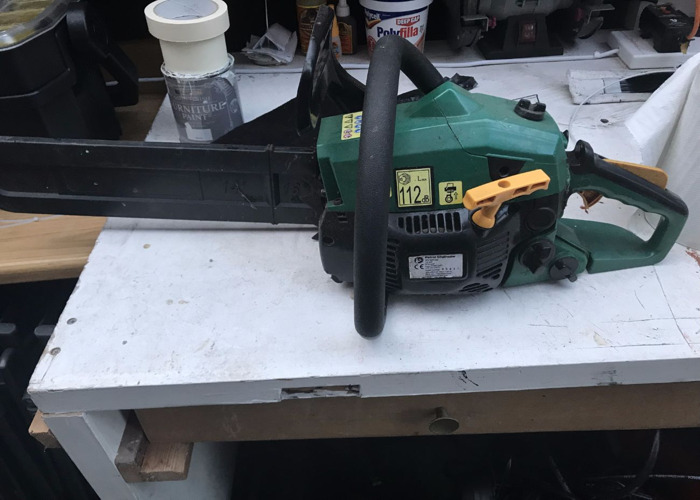 Petrol Chainsaw - 1.2kW Easy Start and Sharpened Blade - 1