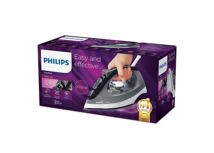 Philips GC1437/80 Comfort Steam Iron - Black & Grey - 1