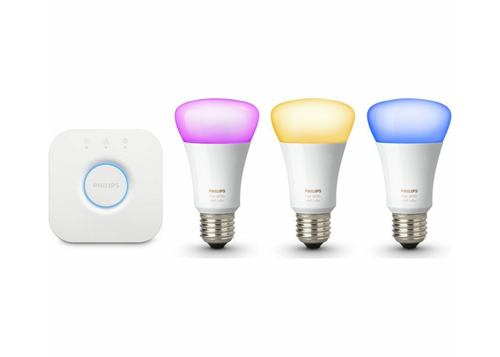 Philips Hue Richer Colours E27 ES White Colour Ambience Wireless LED Starter Kit - 2
