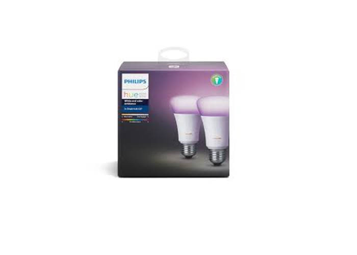 Philips Hue White and Colour Ambience E27 Twin Pack - 1