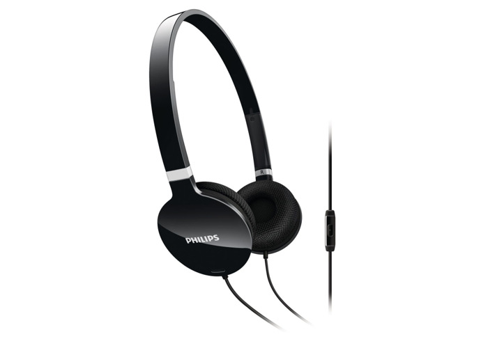 Philips SHL1705BK/10 Lightweight Headset - Black - 2