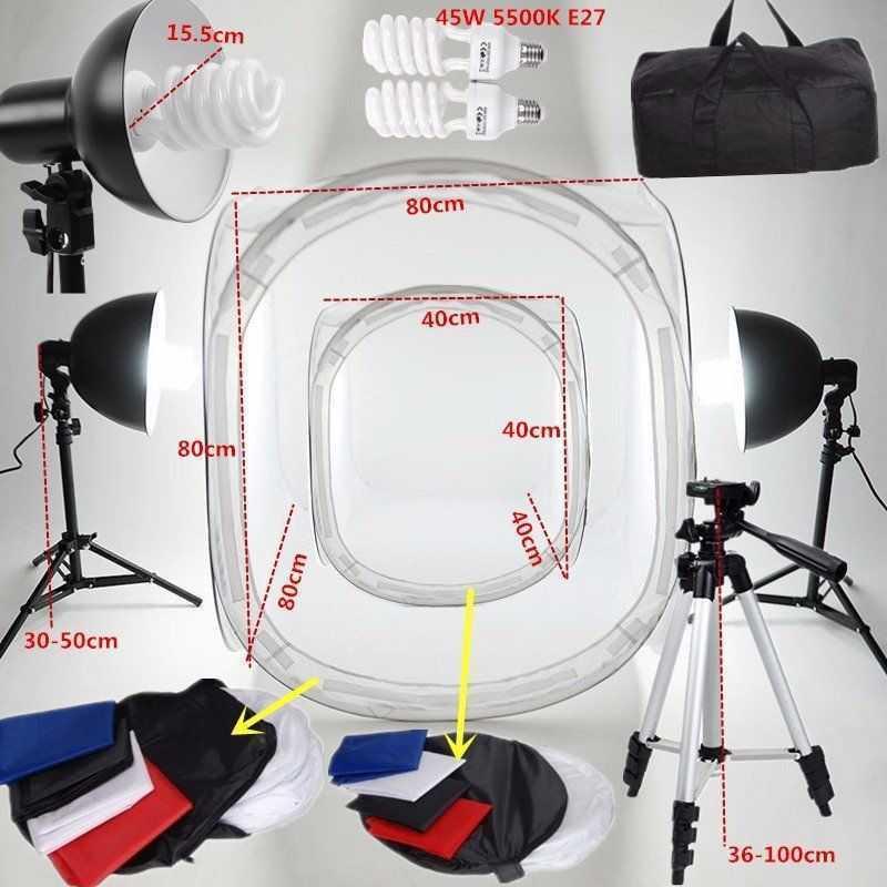 Fotomatón / estudio tienden con lámparas e iluminación trasera - iluminación fotográfica - 1
