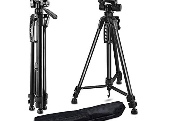 "PHOTO MASTER 55""/141cm Aluminum Lightweight Travel Camera Tr - 1"