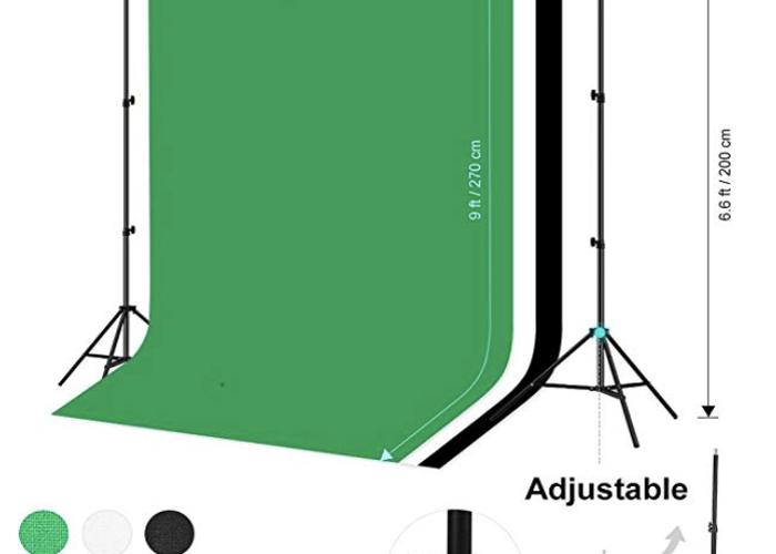 Photo Studio Background Stand 3 colours - 1