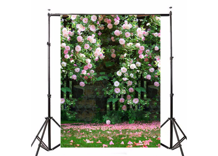 Photography Vinyl Background Romantic Wedding Rendezvous Garden Roses Cluster - 1