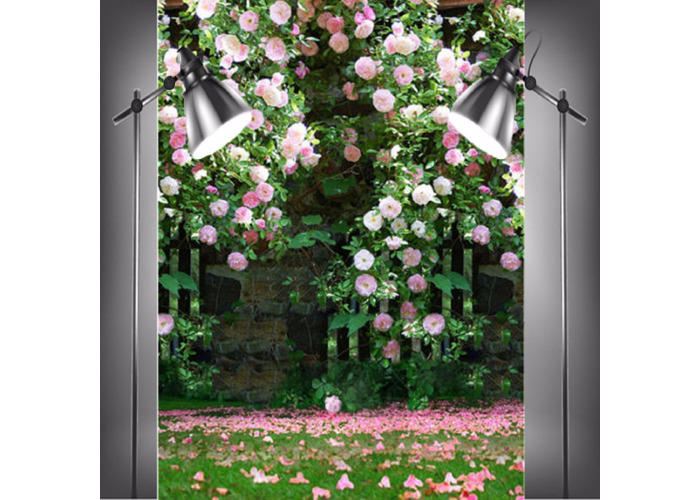 Photography Vinyl Background Romantic Wedding Rendezvous Garden Roses Cluster - 2
