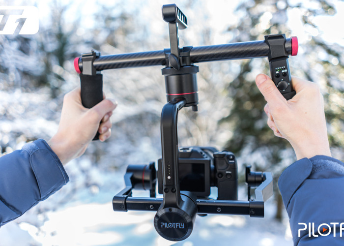 Pilotfly T1 Two-Handed 3-Axis Motorized Gimbal - 1