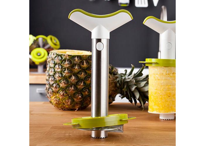 Pineapple Slicer & Wedger Stainless Steel Green Gift Pack - 2
