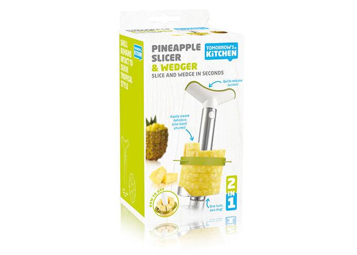 Pineapple Slicer & Wedger Stainless Steel Green Gift Pack - 1