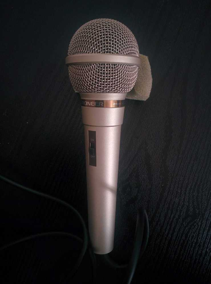 Pioneer DM-21 Dynamic Unidirectional microphone + stand - 1