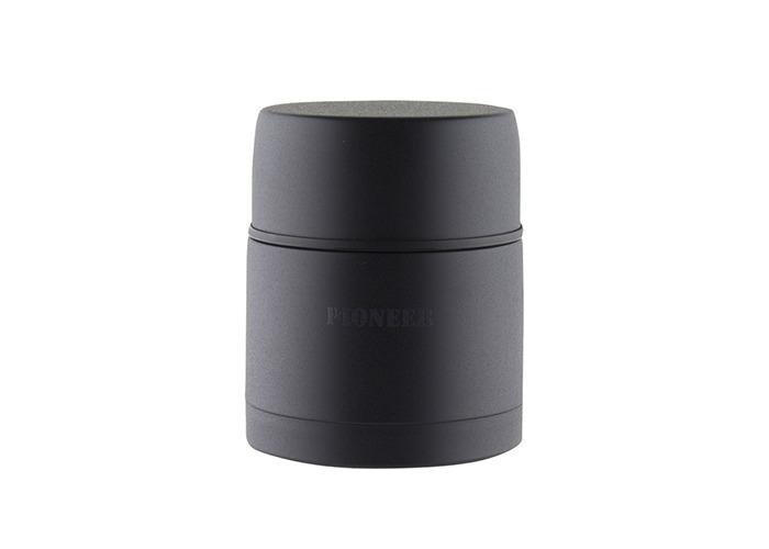 Pioneer Vacuum 0.5 Litre Stainless Steel Black Soup Flask - 1