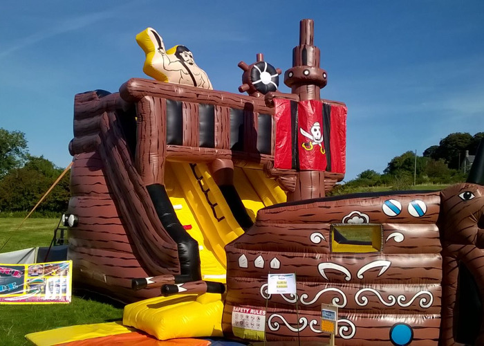 Pirate Ship Inflatable Slide - 2