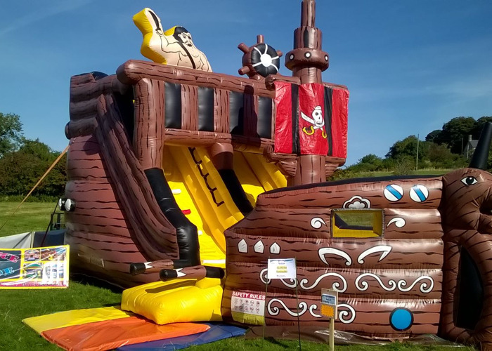 Pirate Ship Inflatable Slide - 1
