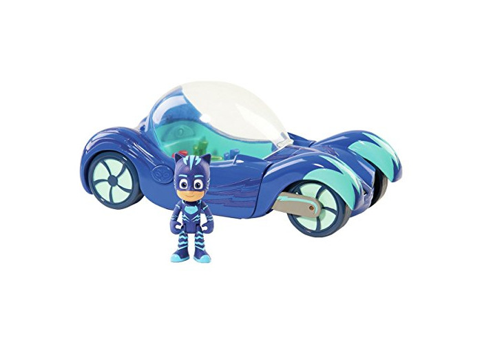 PJ Masks Deluxe Vehicle & Cat Boy 3 inch Figure With Lights And Sound - 1