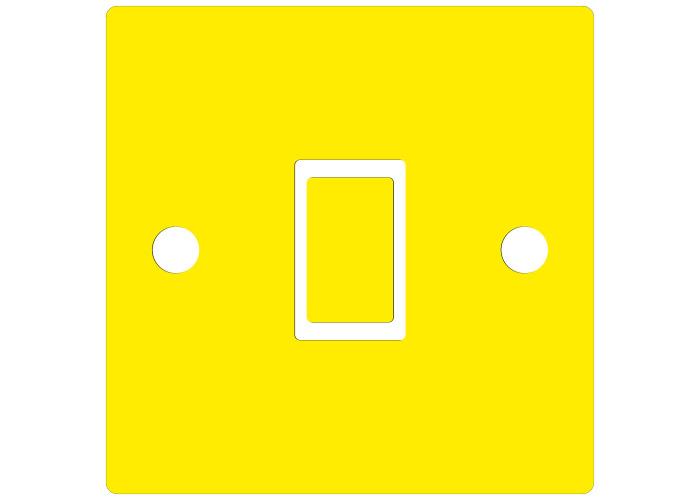 Plain Bright Yellow Light Switch Sticker vinyl skin cover decal