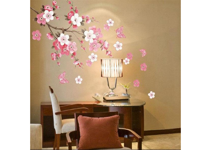 Plum Blossom Butterfly Wall Stickers Removable Decal Home Art Decor Wall Vinyl - 2