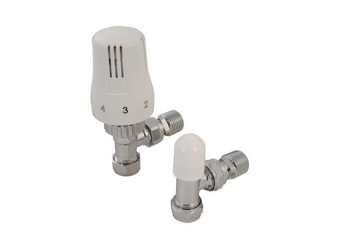 Plumbob 917830 Angled Contract TRV & Lockshield 15mm - 1