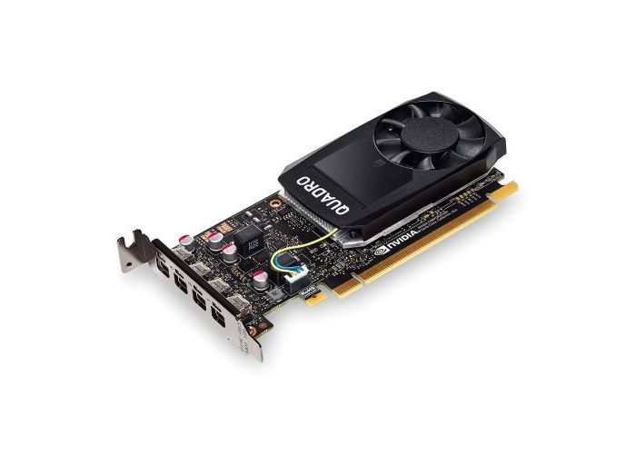 PNY Quadro P1000 Professional Graphics Card, 4GB DDR5, 4 miniDP 1.2 (4 x DVI adapters), Low Profile (Bracket Included - 1