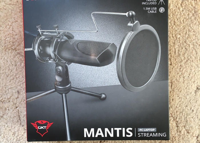 Podcast set: 2x Trust GXT 232 Mantis Streaming Microphone - 2