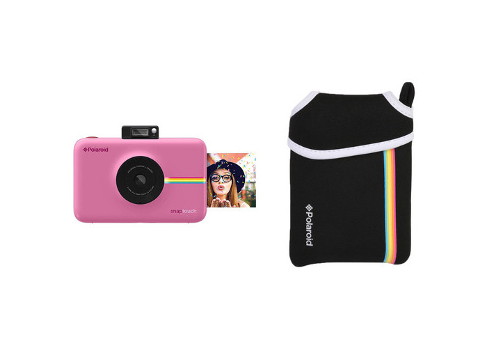 Polaroid Snap Touch Instant Digital Camera with Pouch Kit (Pink) - 2