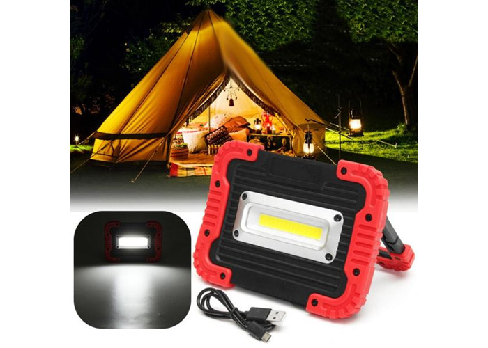 Portable 10W COB LED Work Light USB Rechargeable Outdoor Camping Lamp Handle Flashlight - 1