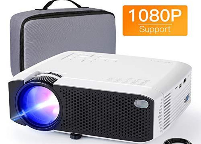 Portable Mini Projector with screen - 1