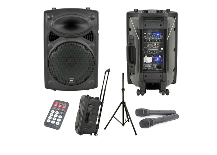 PA System With 2 Wireless Mics - 1