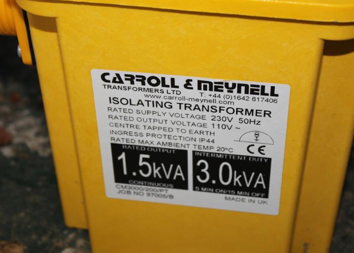 Portable Tool Transformer - CM3300/200/PT Carroll & Meynell - 2