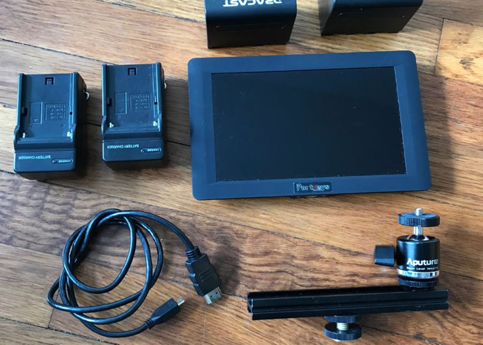 Portkeys 7 inch monitor with accessories preloaded with LUTS - 2