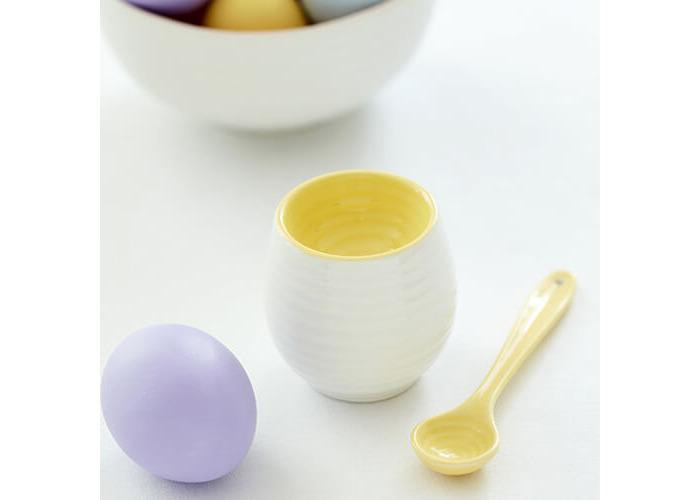 Portmeirion Sophie Conran egg cup & spoon set sunshine yellow - 2