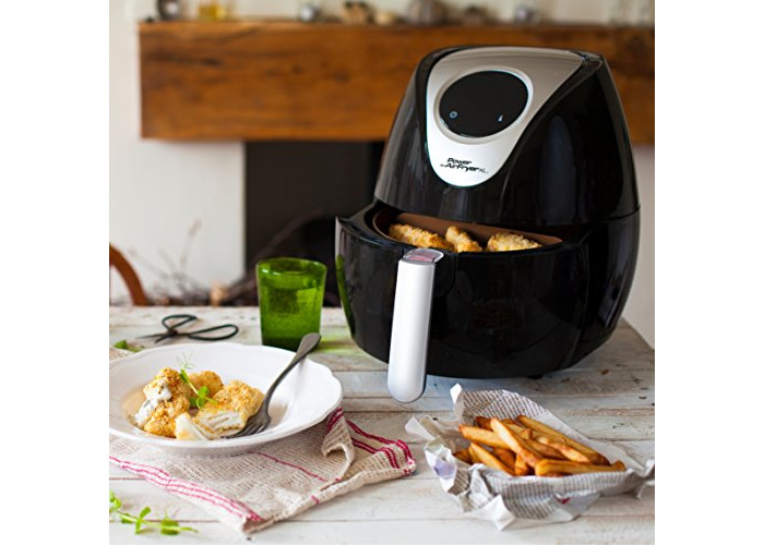 Power Air Fryer XL 5.0 Litre - Chip Fryer, Portable Oven, Oil Free Hot Air Health Fryer with Baking Tray (1700W) Black - 2