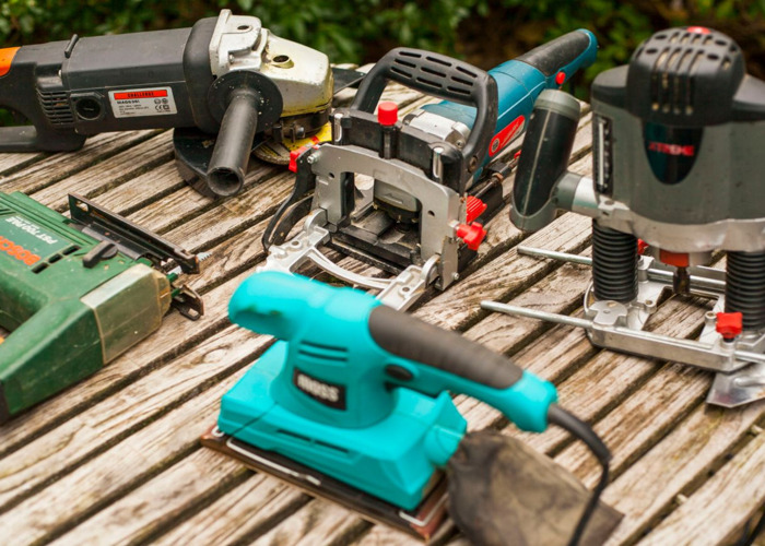 POWER TOOLS, drill grinder, router, joiner, jigsaw,  - 1