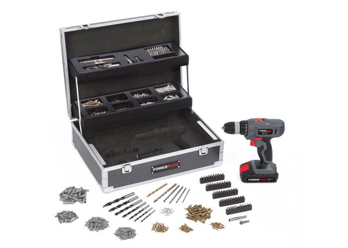 Powerplus 14.4v Drill/Screwdriver + 64 Accessories POWE00064 - 1
