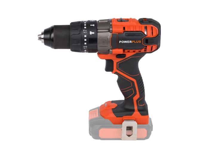 Powerplus 20v Combi Drill & Impact Driver & Angle Grinder & Circular Saw w/ 2 x Batteries - 2