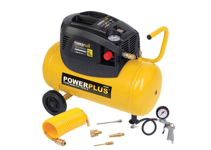 Powerplus 24L Oil Free 6.33CFM Air Compressor & Tyre Inflator - 1