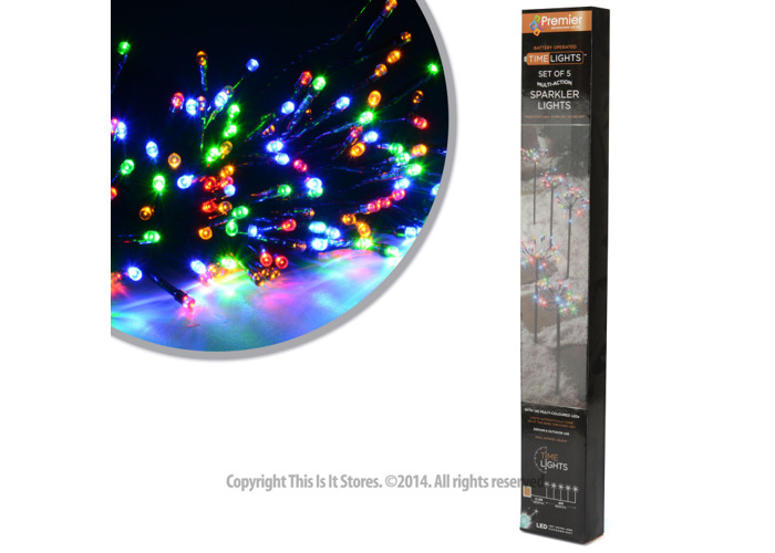 Premier Dec - 120 Battery Operated Sparkler Multi Action Multi Led Path Lights with Timer - 2