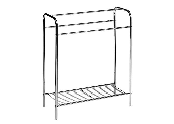 Premier Housewares Chrome Floor Standing Towel Stand - Silver - 1