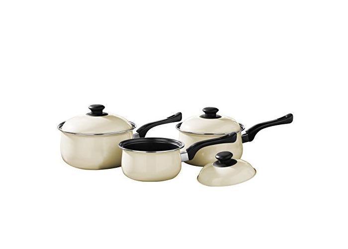 Premier Housewares Cookware Set, 3 Pieces - Cream - 1