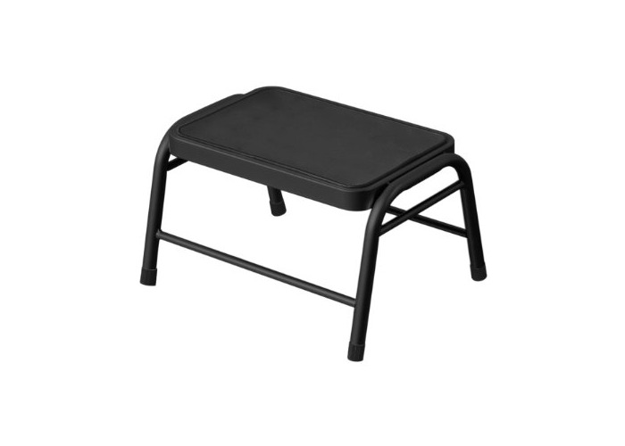 Premier Housewares Metal Step Stool, 25 x 43 x 35 cm - Black - 1